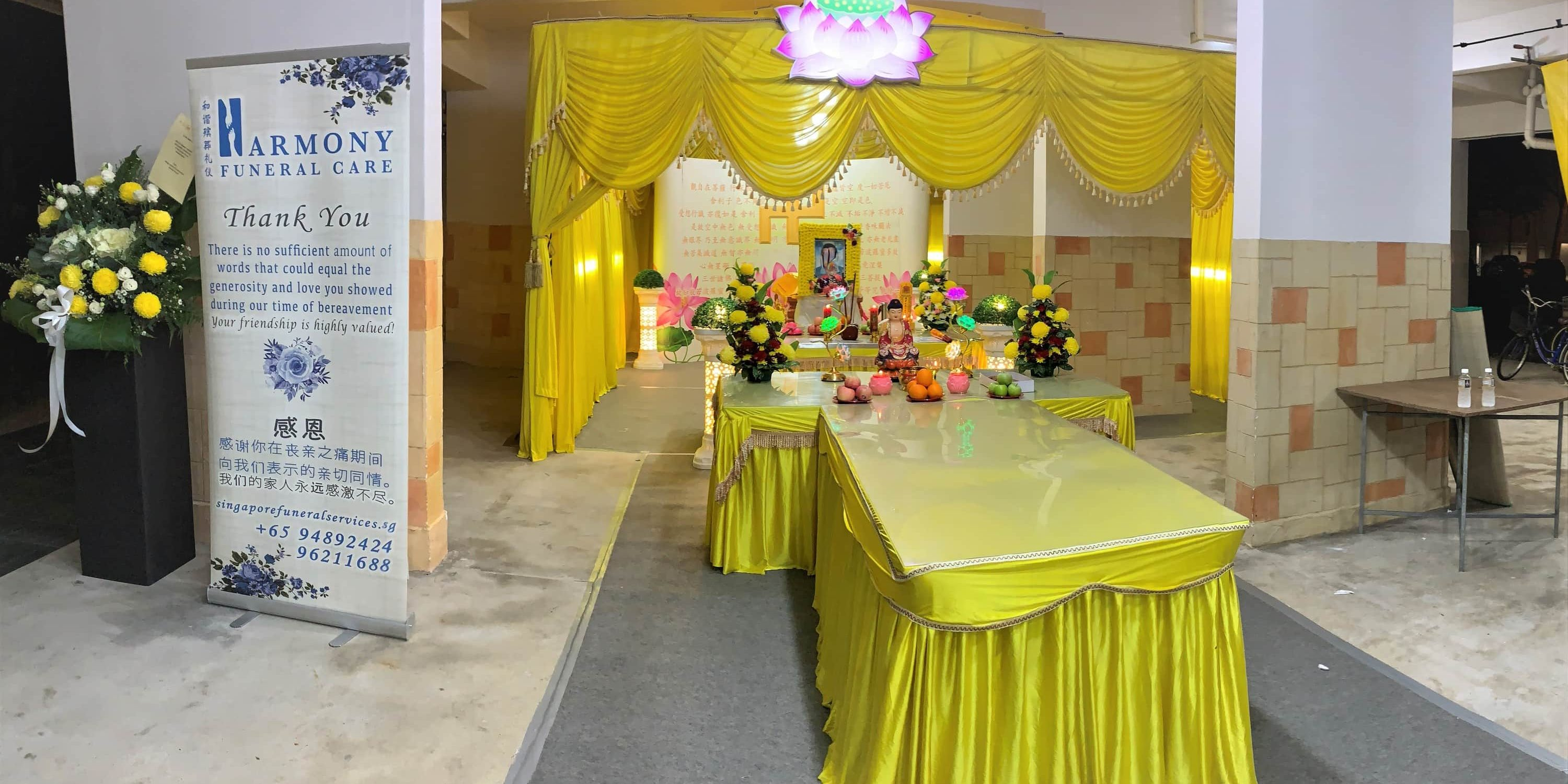 edited buddhist panorama - Singapore Buddhist Funeral Services